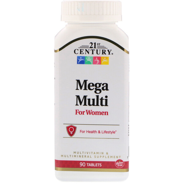 Mega Multi, для женщин, мультивитамины и мультиминералы, 90 таблеток