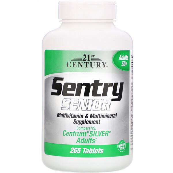 21st Century, Sentry Senior, мультивитаминная и минеральная добавка, для взрослых от 50 лет, 265 таблеток