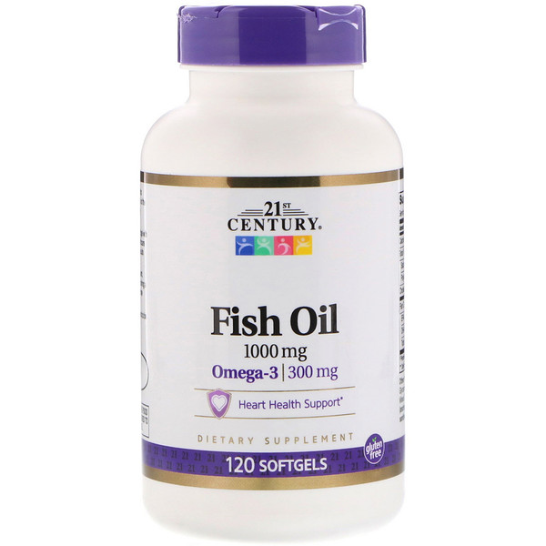 21st Century, Рыбий жир, 1000 мг, 120 мягких желатиновых капсул