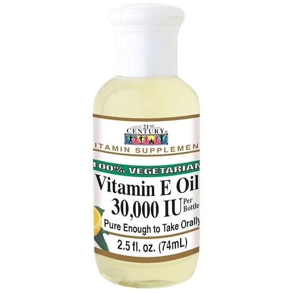 масло с витамином Е, 30 000 МЕ, 74 мл (2,5 жидкой унции)
