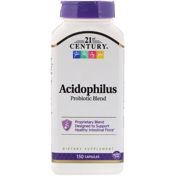 21st Century, Смесь пробиотиков Acidophilus, 150 капсул