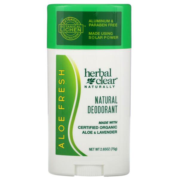 Herbal Clear Naturally,  Natural Deodorant, Aloe Fresh, 2.65 oz (75 g)