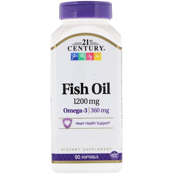 Рыбий жир, 1200 мг, 90 мягких желатиновых капсул