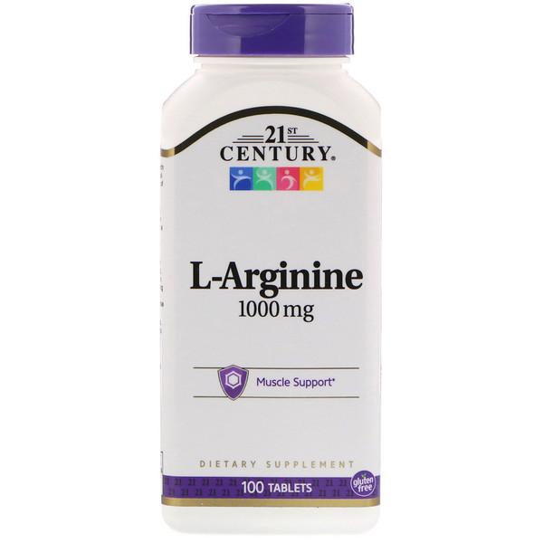 L-аргинин, 1 000 мг, 100 таблеток