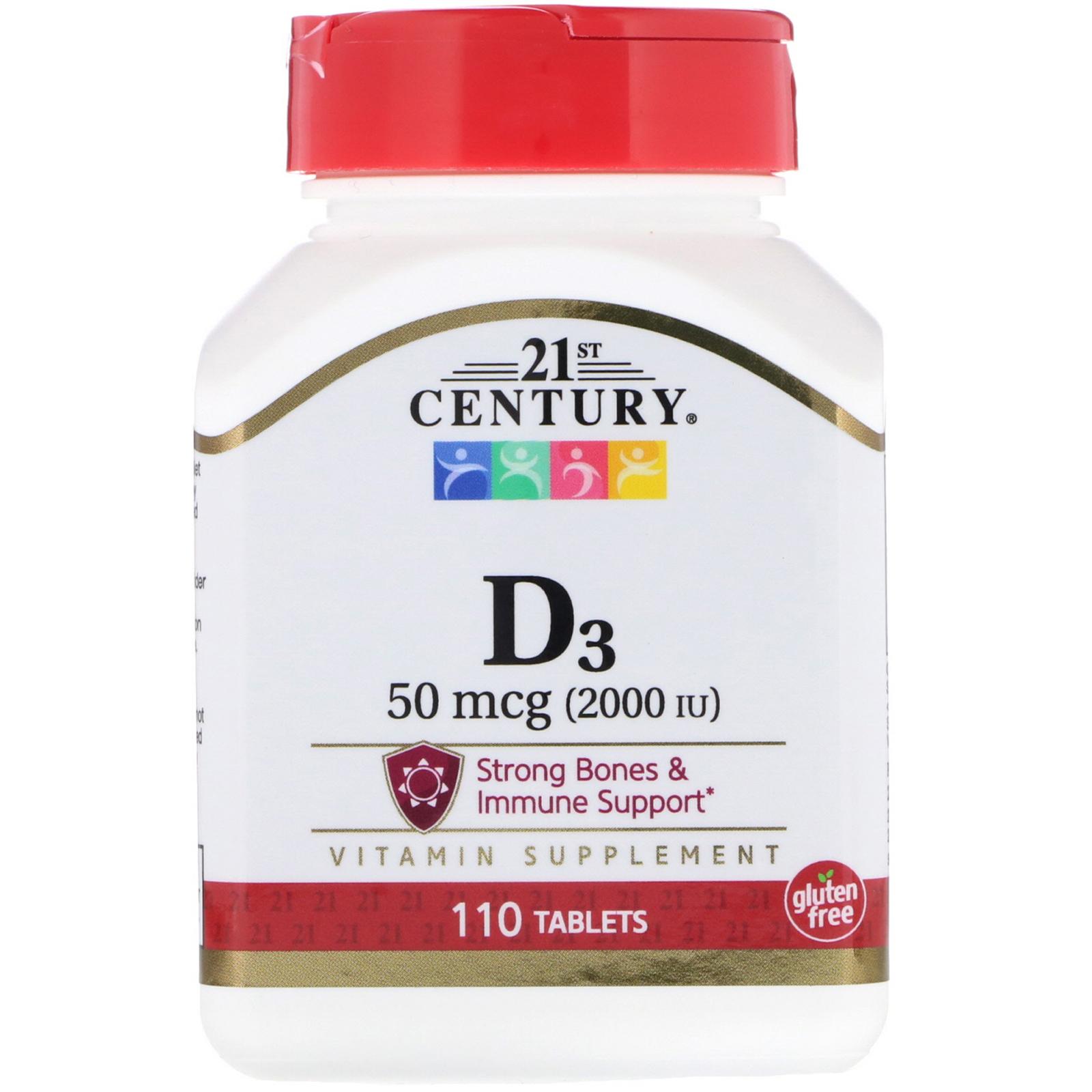 21st Century, Vitamin D3, 50 mcg (2,000 IU), 110 Tablets