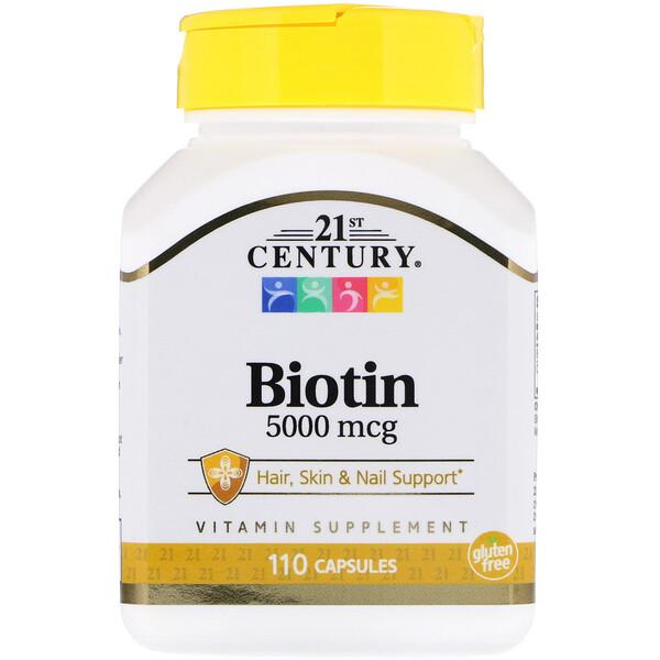 Биотин, 5000 мкг, 110 капсул