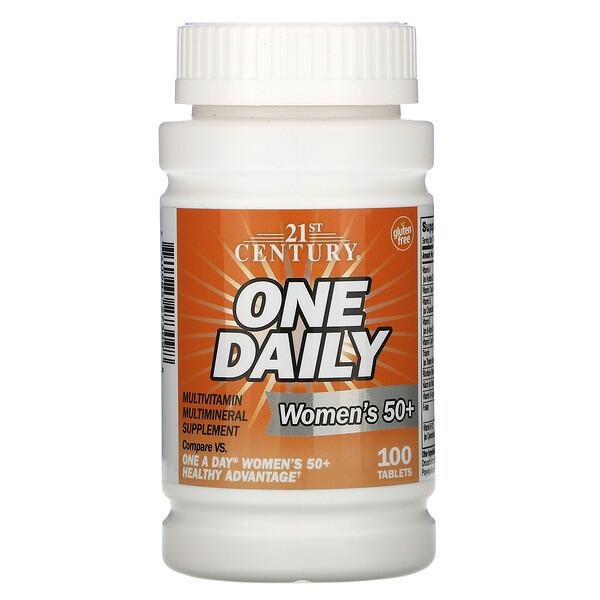 One Daily, мультивитамины и мультиминералы для женщин старше 50лет, 100таблеток