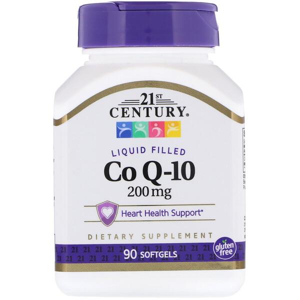 21st Century, Жидкий коэнзимQ-10, 200мг, 90мягких таблеток