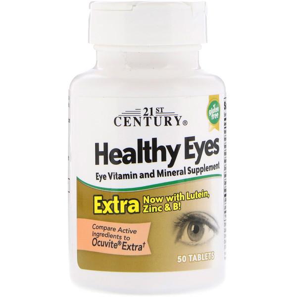 21st Century, Healthy Eyes(здоровые глаза) экстра, 50 таблеток (Discontinued Item)
