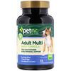 petnc NATURAL CARE, Природная забота о питомцах, ежедневная мульти формула для взрослых, вкус печени, 75 жевательных драже