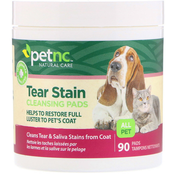 Tear Stain Cleansing Pads, For Cats & Dogs, 90 Pads