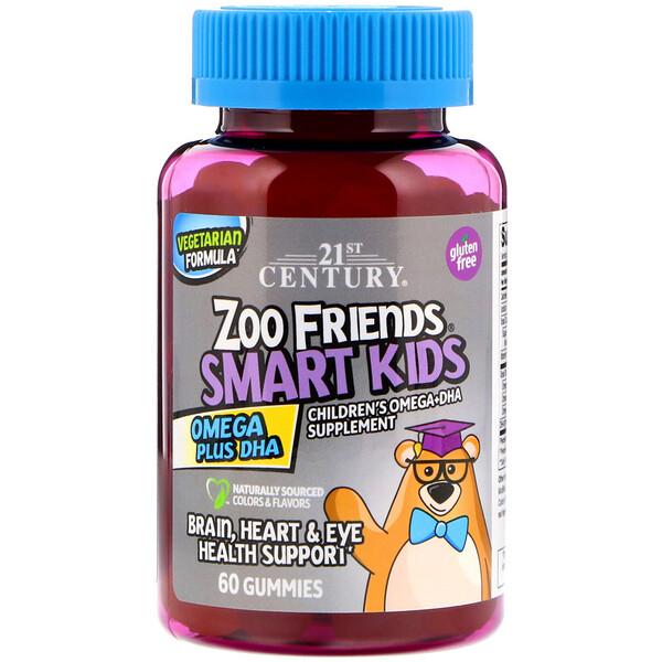 Zoo Friends, Smart Kids, омега жирные кислоты с ДГК, 60жевательных конфет