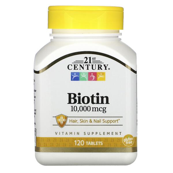 Биотин, 10 000мкг, 120таблеток