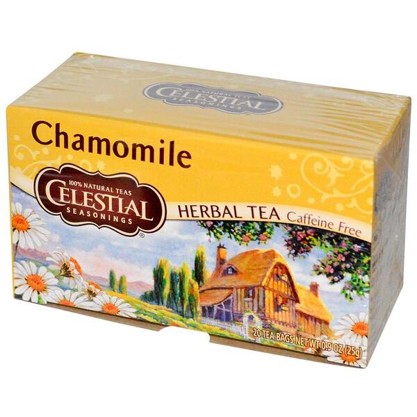 Травяной чай, без кофеина, ромашка, 20 чайных пакетиков, 0,9 унций (25 г)