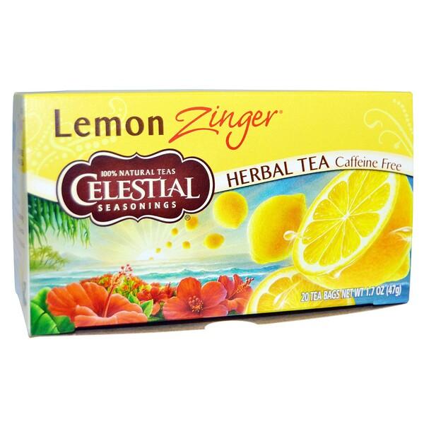 Травяной чай, без кофеина, Лимонное чудо, 20 пакетиков, 1,7 oz (47 г)