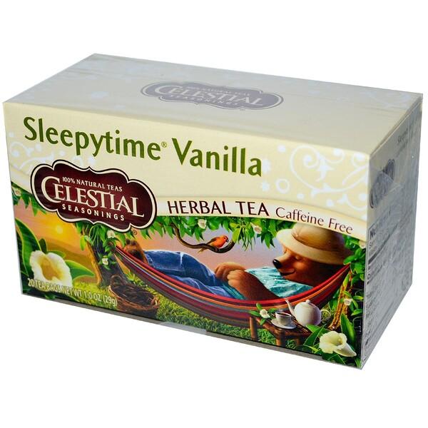 Травяной чай, Sleepytime Vanilla, без кофеина, 20 пакетиков, 1,0 унции (29 г)