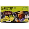 Celestial Seasonings, Sleepytime зеленый чай, лимон и жасмин, без кофеина, 20 чайных пакетиков, 31 г