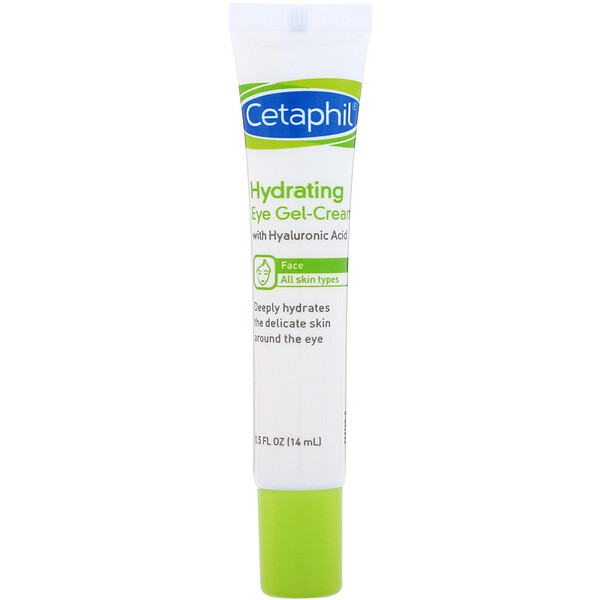 Hydrating Eye Gel-Cream with Hyaluronic Acid, 0.5 fl oz (14 ml)
