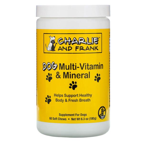 Комплекс мультивитаминов и минералов для собак, поддерживает свежее дыхание, 60мягких жевательных таблеток