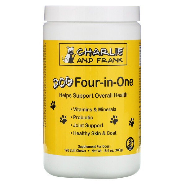 Dog Four-in-One, 120мягких жевательных таблеток