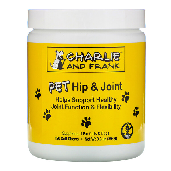 PET Hip & Joint, для кошек и собак, 120 мягких жевательных таблеток
