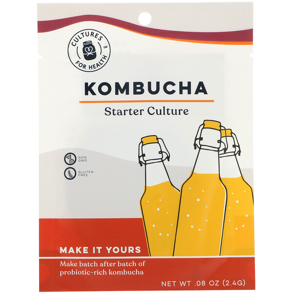 Cultures for Health, Kombucha, 1 Packet, .08 oz (2.4 g)