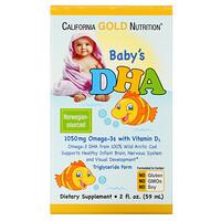 California Gold Nutrition, ДГК для детей, 1050мг, Омега-3 с витаминомD3, 59мл (2жидк. унции)