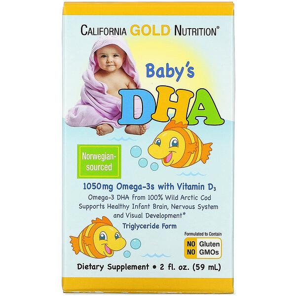 Baby's DHA, Omega-3s with Vitamin D3, 1050 mg, 2 fl oz (59 ml)