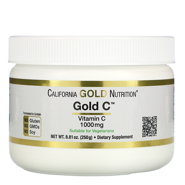 California Gold Nutrition, порошок Gold C, 250 г (8,81 унции)