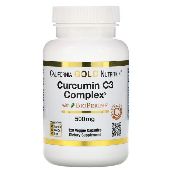 Curcumin C3 Complex с BioPerine, 500мг, 120растительных капсул