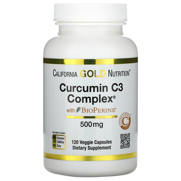 Curcumin C3 Complex с экстрактом BioPerine, 500мг, 120растительных капсул