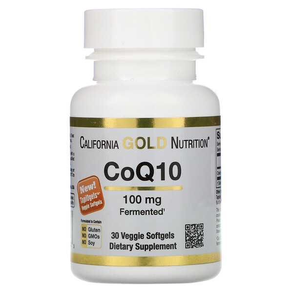 CoQ10, 100 мг, 30 растительных капсул