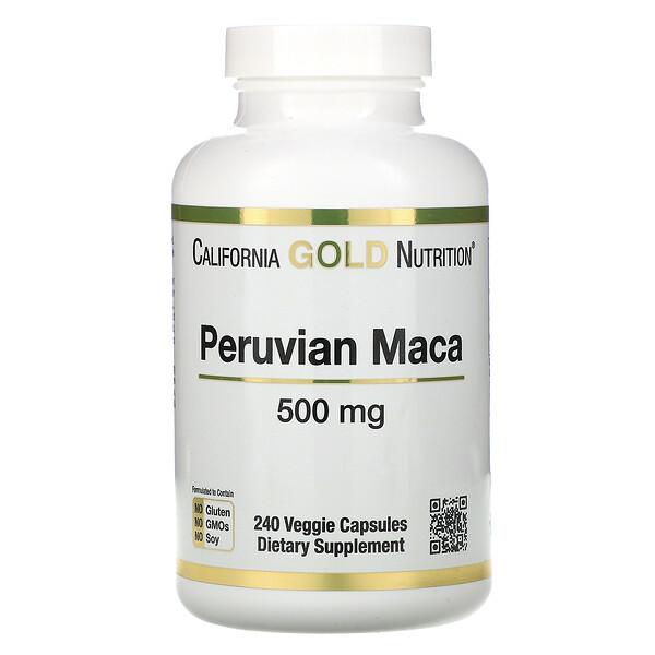 перуанская мака, 500мг, 240растительных капсул