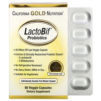 California Gold Nutrition, LactoBif, пробиотики, 30млрд КОЕ, 60растительных капсул
