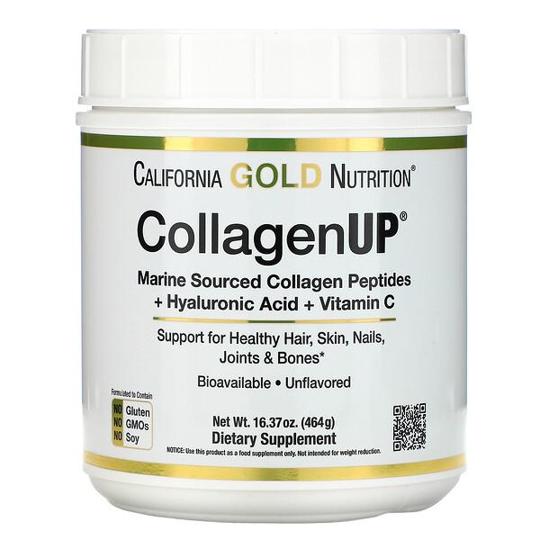 CollagenUP, гидролизованный морской коллаген, гиалуроновая кислота и витаминC, без вкусовых добавок, 464г (16,37унции)