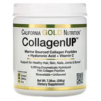 California Gold Nutrition, CollagenUP, морской гидролизованный коллаген с гиалуроновой кислотой и витамином С, без запаха, 206 г (7,26 унции)