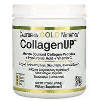 California Gold Nutrition, CollagenUP, морской гидролизованный коллаген, гиалуроновая кислота и витаминC, без вкусовых добавок, 206г (7,26унции)