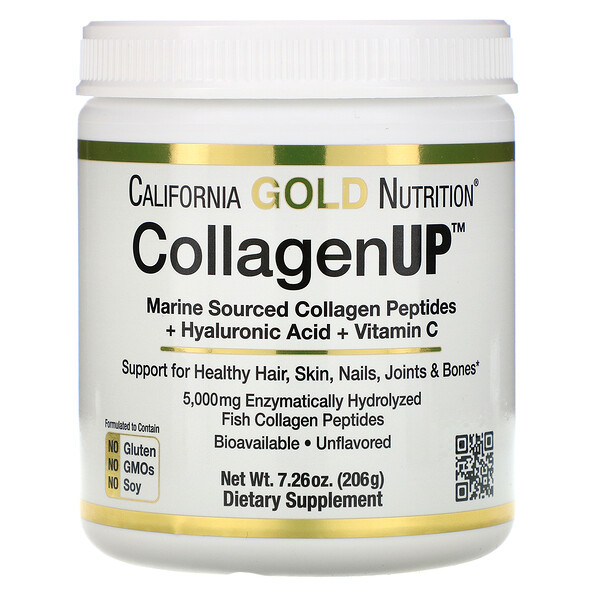CollagenUP, Marine Hydrolyzed Collagen + Hyaluronic Acid + Vitamin C, Unflavored, 7.26 oz (206 g)