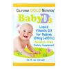 California Gold Nutrition, ВитаминD3 в каплях для детей, 400МЕ, 10мл (0,34жидк.унции)