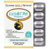 Калифорния Голд Нутришен, Пробиотики LactoBif Pet, 5млрд КОЕ, 60растительных капсул