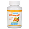 Калифорния Голд Нутришен, Жевательные таблетки с витаминомC, натуральный апельсиновый вкус, без желатина, 90жевательных таблеток