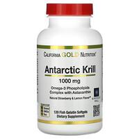 California Gold Nutrition, RIMFROST, масло антарктического криля, с астаксантином, натуральный клубнично-лимонный вкус, 1000мг, 120рыбно-желатиновых мягких таблеток