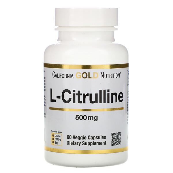 L-цитруллин, 500мг, 60растительных капсул