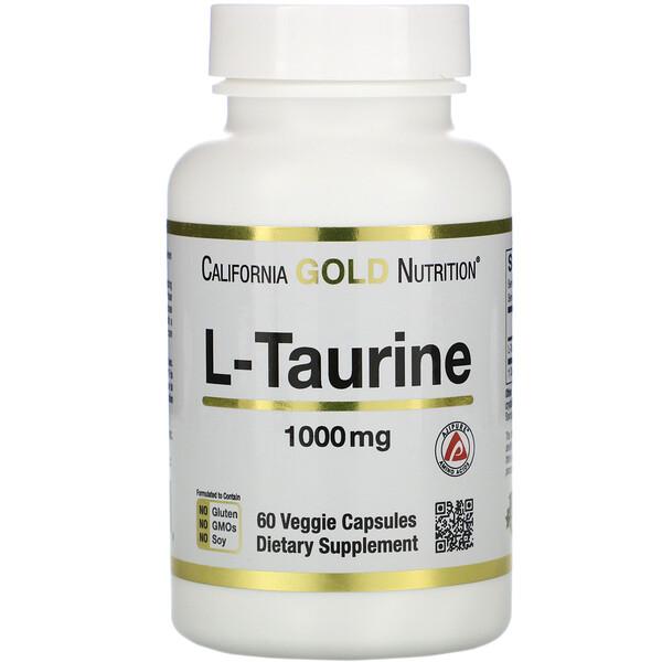 L-таурин, 1000мг, 60растительных капсул