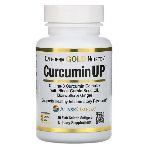 CurcuminUP, комплекс куркумина и омега-3, поддержка при воспалениях, 30рыбно-желатиновых капсул