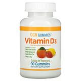 Carlson Labs, Детские жевательные таблетки с витамином D3, натуральные фруктовые ароматизаторы, 25 мкг (1000 МЕ), 60 шт. - iHerb