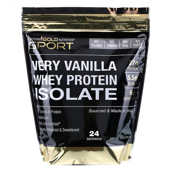 Изолят сывороточного протеина со вкусом ванили, 908г (2фунта)