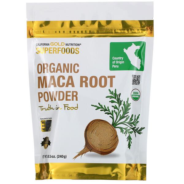 California Gold Nutrition, Суперпродукт, органический порошок корня маки, 8,5 унций (240 г)