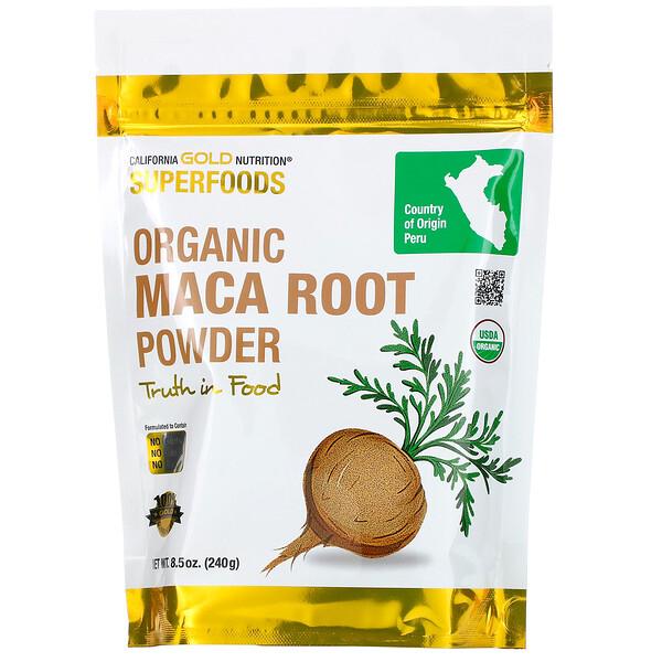California Gold Nutrition, Superfoods, порошок органического корня маки, 240г (8,5унции)