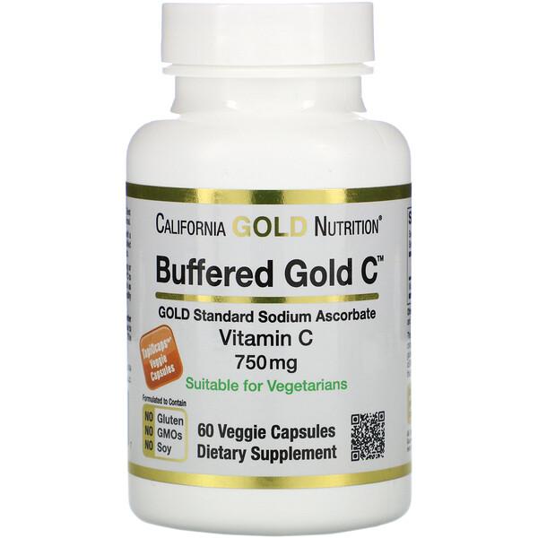 Буферизованный витаминC в капсулах, 750мг, 60растительных капсул